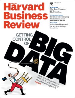 Harvard Business Review Cover - Getting control of Big Data