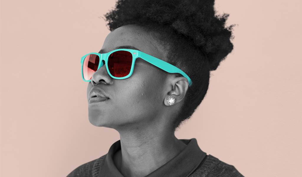 African Descent Female Sunglasses Cool