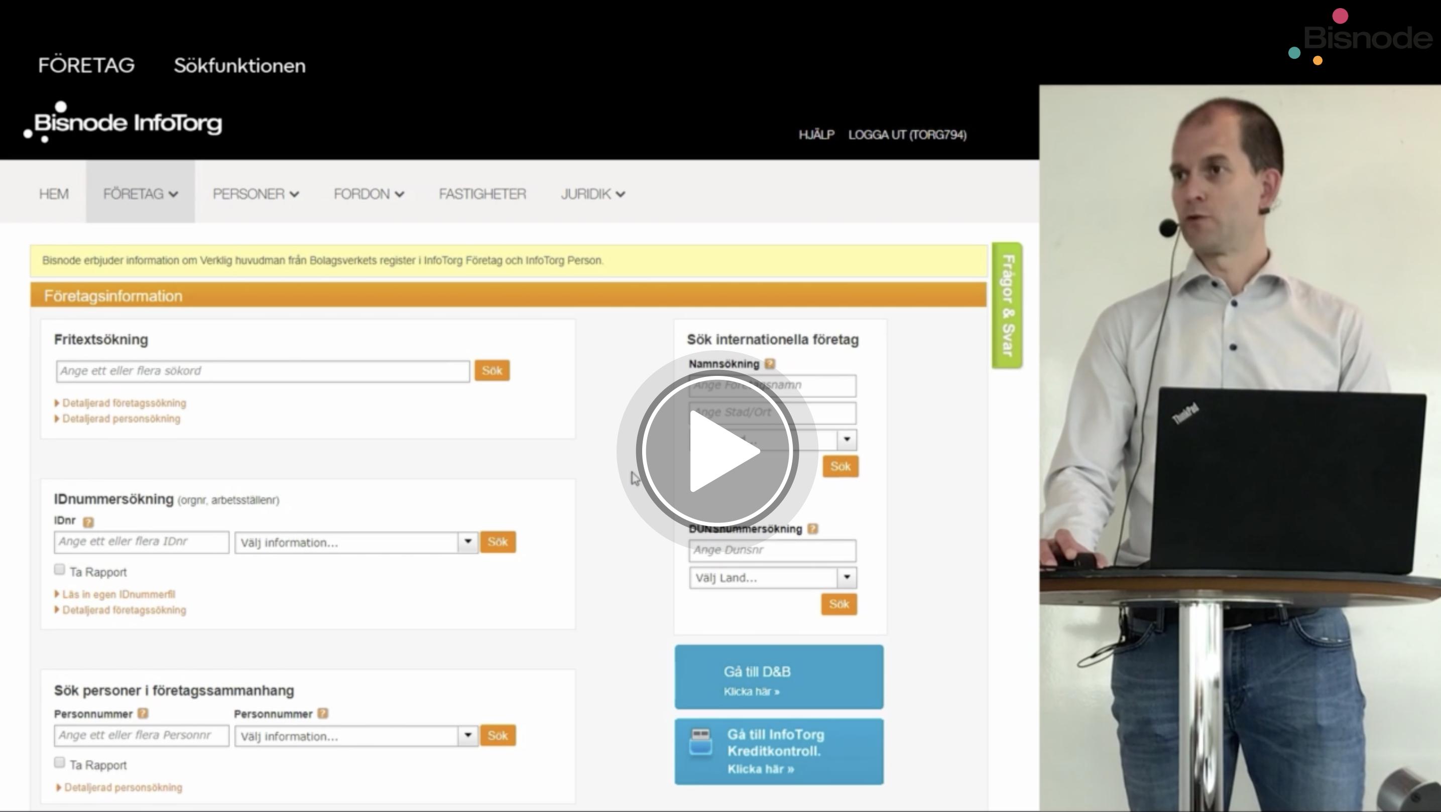 Webbutbildning infotorg företag