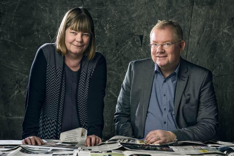 Ann Catrin Thunberg, analyschef, SvD och Per Selin, senior analytiker, Bisnode
