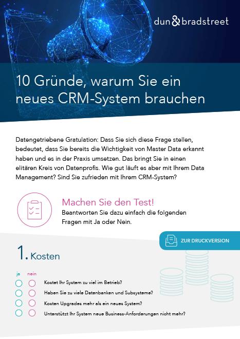 10 Gründe für ein neues CRM-System Test